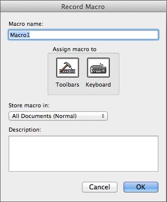 Registrer makroer