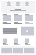 Trådrammediagram for firma