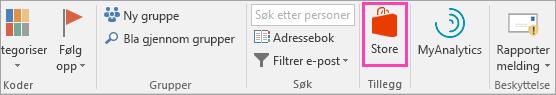 Et skjermbilde av Store-knappen