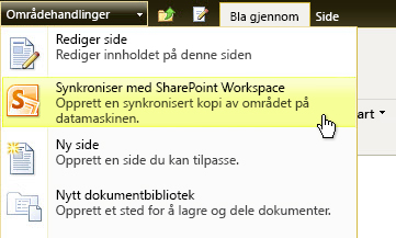 Synkronisere med SharePoint Workspace