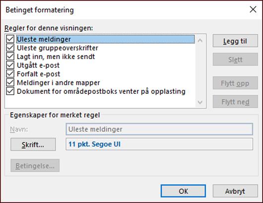 Velg betinget formatering.
