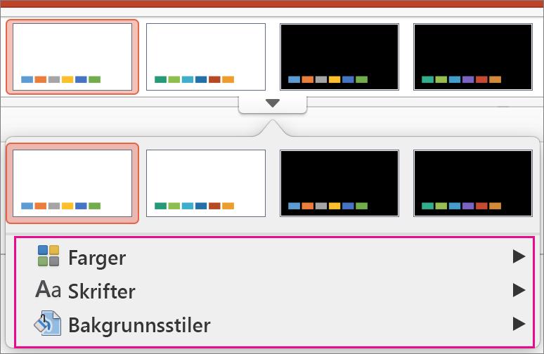 Varianter-galleriet i PowerPoint for Mac