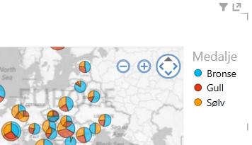 bruke farger på Power View-kartvisualiseringer