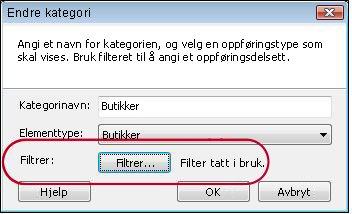 kategorien med filter aktivert