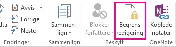 Begrens Redigering-kommandoen i Se gjennom-fanen