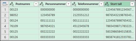 Få & Transform > konvertere data til tekst