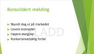 Eksempel på et tekstvannmerke, «KLADD», brukes som bakgrunnen på et PowerPoint-lysbilde