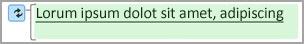 Grønn utheving betyr endret tekst.