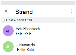 Kaizala Start chat