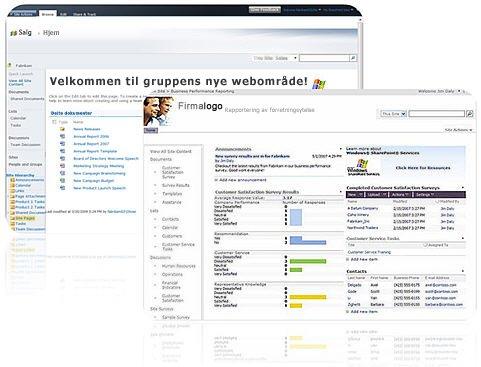 Områder du oppretter med SharePoint Designer 2010