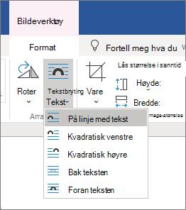 Alternativer for tekst bryting