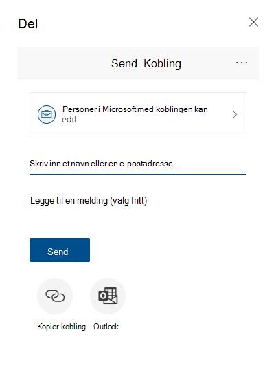 Dialog boksen del for å sende en kobling som peker til en Diagramnavn-fil.