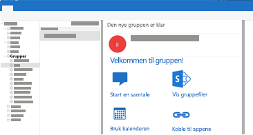 Vise og lese eller svare på gruppesamtaler i Outlook for Mac