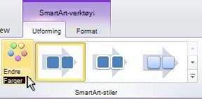 Endre fargen i SmartArt-grafikken.