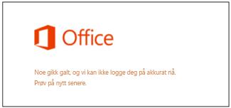 Problem med å logge på Microsoft-kontoen