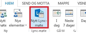 Klikk Nytt Lync-møte.