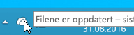 Et skjermbilde som viser det hvite OneDrive-ikonet i Windows 8.1.