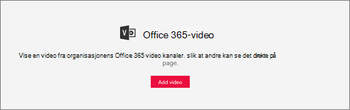 Office 365 video-nettdel