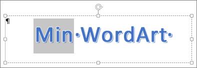 Delvis merket WordArt-tekst