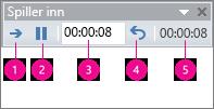 viser tidsberegningsboksen for innspilling i powerpoint