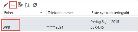 Fjern telefon fra Outlook Web App