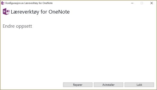 Endre oppsett-skjerm for læreverktøytillegget.