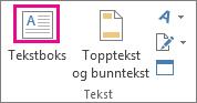 Tekstboks-knappen i Tekst-gruppen
