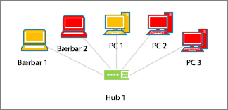 Datamaskinfigurer med forskjellige farger
