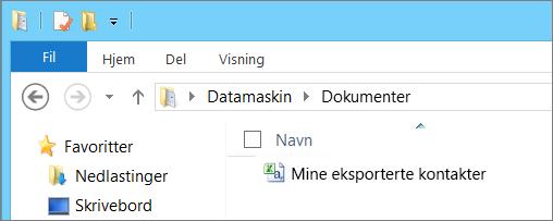 Skriv inn et navn på filen du skal eksportere
