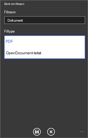 Lagre som PDF
