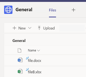 Del filer fra en gruppe tekst samtale i Teams.