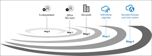 Valideringsirkler for Office 365.