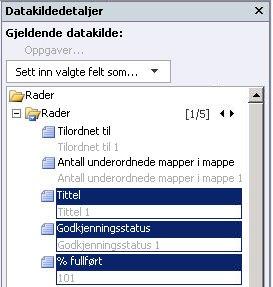 Åpent område i SharePoint Designer 2010