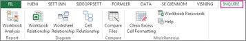 Forespørselsfane i Excel