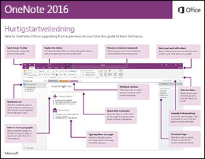 Hurtigstartveiledning for OneNote 2016 (Windows)