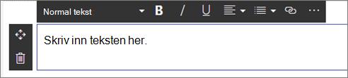 Webdel for tekst