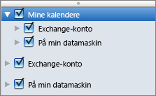 Mine kalendere-gruppen i Outlook 2016 for Mac