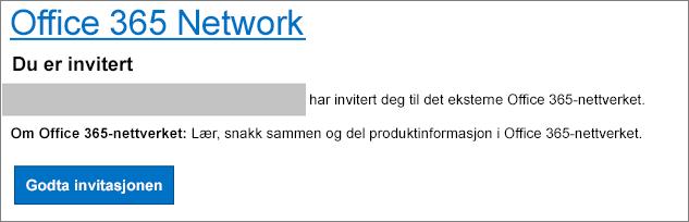 En e-postgodkjenning via eksternt nettverk
