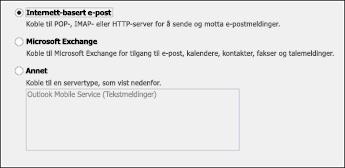Velg Internett-basert e-post