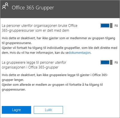 La personer utenfor min organisasjon få tilgang til Office 365-grupper og ressurser