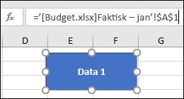 Merk figuren til å vise koblingsnavnet på formellinjen.