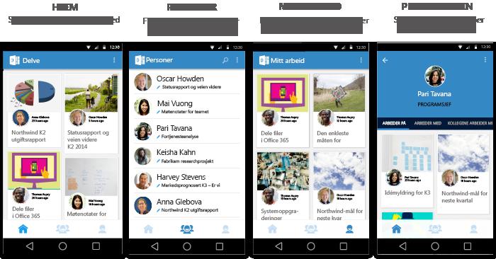 Skjermbilder fra Delve for Android
