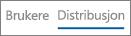 Skjermbilde av Distribusjon-visningen i rapporten på Yammer-enhetsbruk
