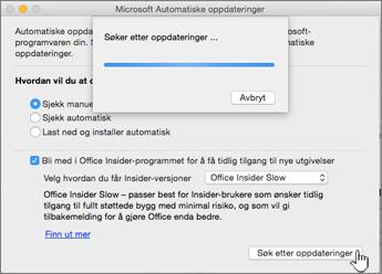 Søker etter Insider Slow-oppdateringer på Mac