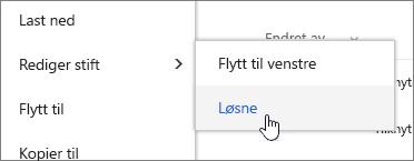Velg en fil med Rediger PIN-kode og løsne uthevet