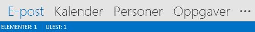 Personer-fanen er nederst på skjermen i Outlook.
