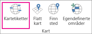 Alternativet Kartetiketter for 3D-kart