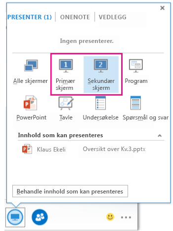 Dialogboksen Presenter