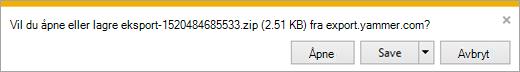 ZIP-fil som viser admin, bruker og nettverksfiler