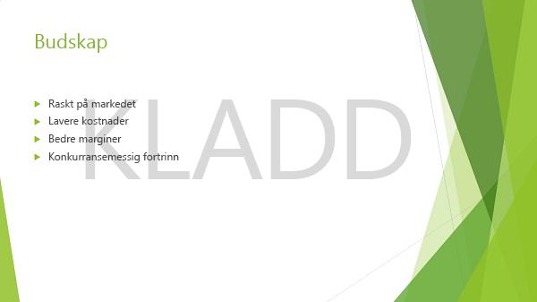 eksempel på et PowerPoint-lysbilde med kladdvannmerke
